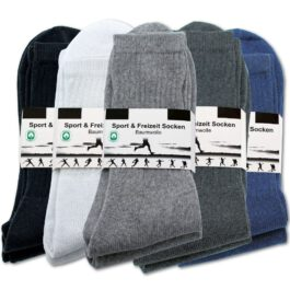 10-100 Paar Tennissocken Anthrazit