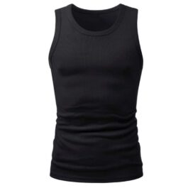 12er Pack Unterhemden schwarz