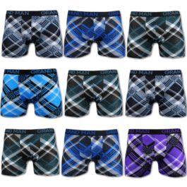 10er Pack Retroshorts Rautenprint