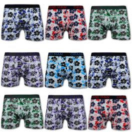 10er Pack Retroshorts Blumenprint