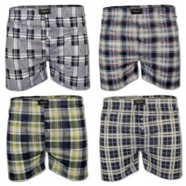 12er Pack Stretch Boxershorts Kariert
